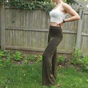 Nasty Gal Gold and Black Flare Pants